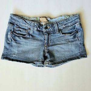 Paige Canyon Short Distressed Denim Shorts Size 27